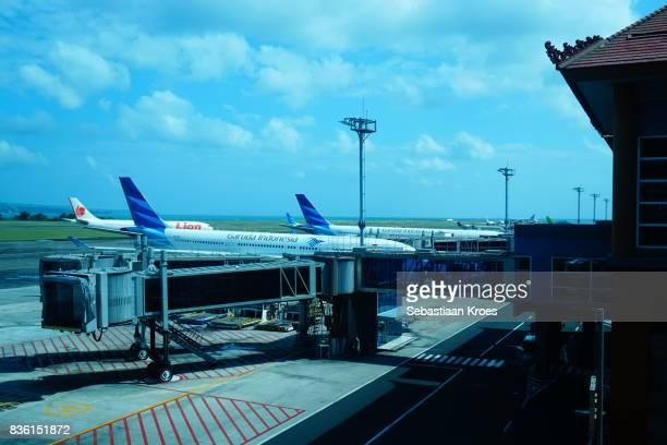 Ngurah Rai Airport and Airplanes, Bali, Indonesia