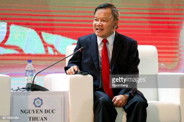 Nguyen Duc Thuan chairman of TBS Group speaks at the AsiaPacific Economic Cooperation CEO Summit in Danang Vietnam on Wednesday Nov 8 2017 Donald...