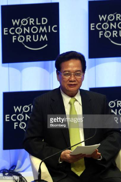Nguyen Tan Dung Vietnam's prime minister attends the opening ceremony of the World Economic Forum on East Asia in Naypyidaw Myanmar on Thursday June...