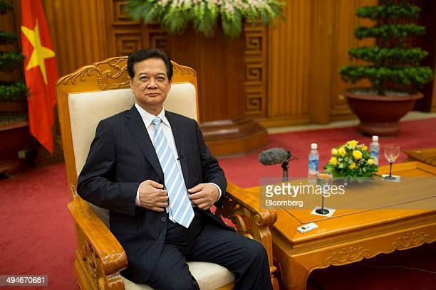 Nguyen Tan Dung Vietnam's prime minister sits in a chair before an interview in Hanoi Vietnam on Friday May 30 2014 Vietnam has prepared evidence for...