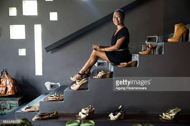 Ni Luh Ayu Pertami the designer and the owner of Niluh Djelantik poses for portrait at her store on November 12 2013 in Seminyak Bali Indonesia Niluh...