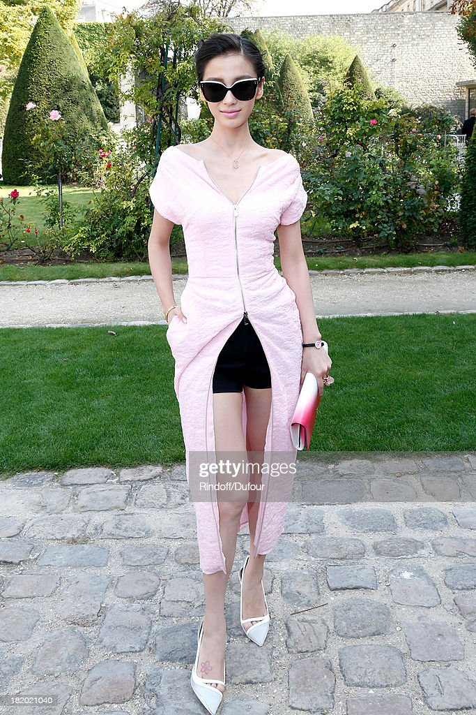 Ni Ni arriving at the Christian Dior show as part of the Paris Fashion Week Womenswear Spring/Summer 2014, held at Musee Rodin on September 27, 2013 in Paris, France.