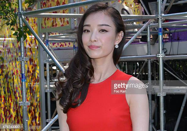 Ni Ni attends the Christian Dior show as part of Paris Fashion Week Haute Couture Fall/Winter 2015/2016 on July 6 2015 in Paris France
