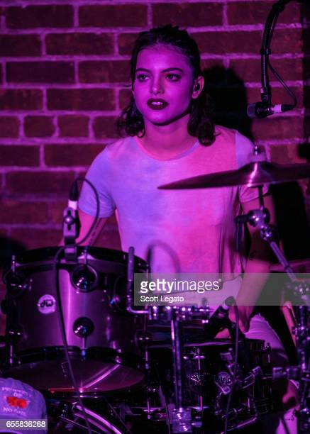 Nia Lovelis of Hey Violet performs at The Shelter on March 20 2017 in Detroit Michigan
