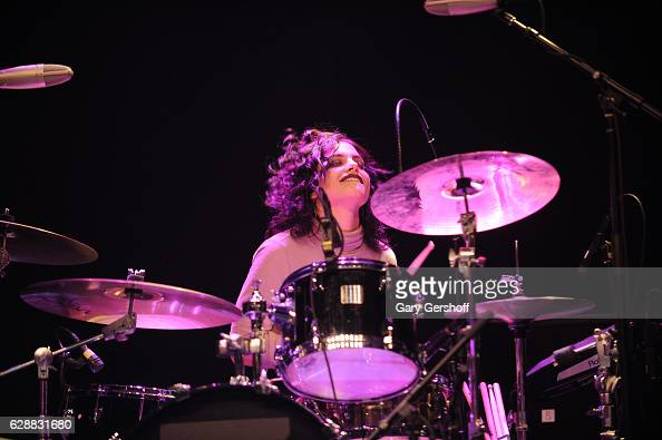 Nia Lovelis of the band Hey Violet performs on stage during Z100 CocaCola All Access Lounge at Z100's Jingle Ball 2016 Presented by Capital One...