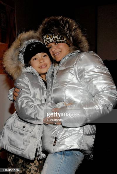 Nia Peeples and daughter Sienna at the Hollywood Life House on January 21 2008 in Park City Utah