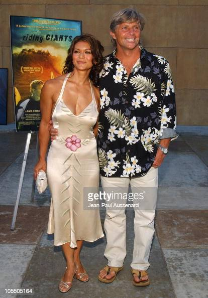 Nia Peeples and Sam George during 'Riding Giants' Los Angeles Premiere at The Egyptian Theatre in Hollywood California United States