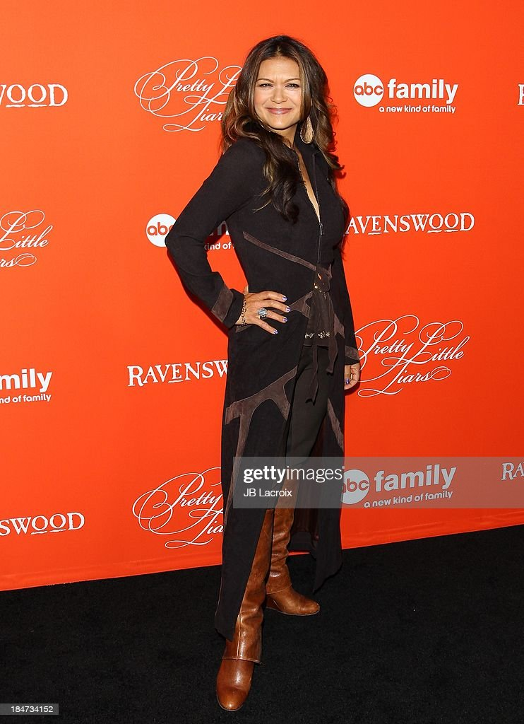 <a gi-track='captionPersonalityLinkClicked' href=/galleries/search?phrase=Nia+Peeples&family=editorial&specificpeople=635440 ng-click='$event.stopPropagation()'>Nia Peeples</a> attends the 'Pretty Little Liars' Special Halloween Episode Premiere Party held at Hollywood Forever on October 15, 2013 in Hollywood, California.