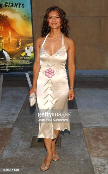 Nia Peeples during 'Riding Giants' Los Angeles Premiere at The Egyptian Theatre in Hollywood California United States