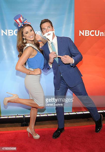 Nia Sanchez and Thomas Roberts attend the 2015 NBC New York Summer Press Day at Four Seasons Hotel New York on June 24 2015 in New York City