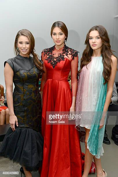 Nia Sanchez Gabriela Isler and K Lee Graham attend the Vivienne Hu fashion show during MercedesBenz Fashion Week Spring 2015 at Pier 59 on September...