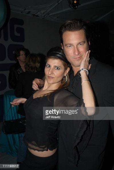 Nia Vardalos and John Corbett during VH1 Big in 2002 Awards Backstage and Audience at Grand Olympic Auditorium in Los Angeles CA United States