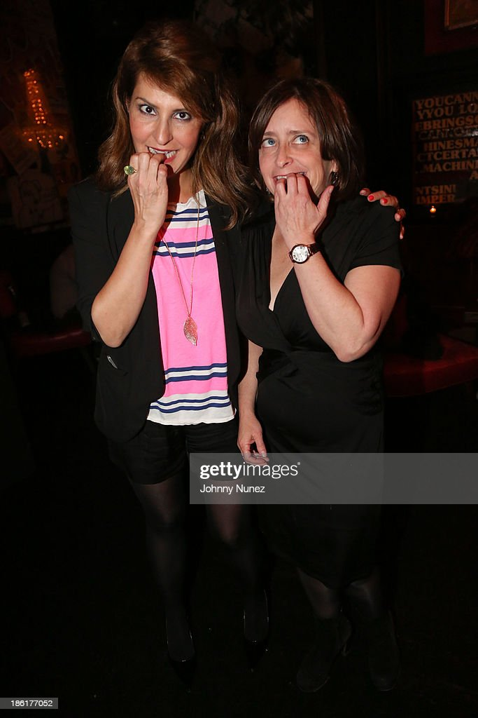 <a gi-track='captionPersonalityLinkClicked' href=/galleries/search?phrase=Nia+Vardalos&family=editorial&specificpeople=201549 ng-click='$event.stopPropagation()'>Nia Vardalos</a> and <a gi-track='captionPersonalityLinkClicked' href=/galleries/search?phrase=Rachel+Dratch&family=editorial&specificpeople=209387 ng-click='$event.stopPropagation()'>Rachel Dratch</a> attend the LAByrinth Theater Company Celebrity Charades 2013 benefit gala at Capitale on October 28, 2013 in New York City.
