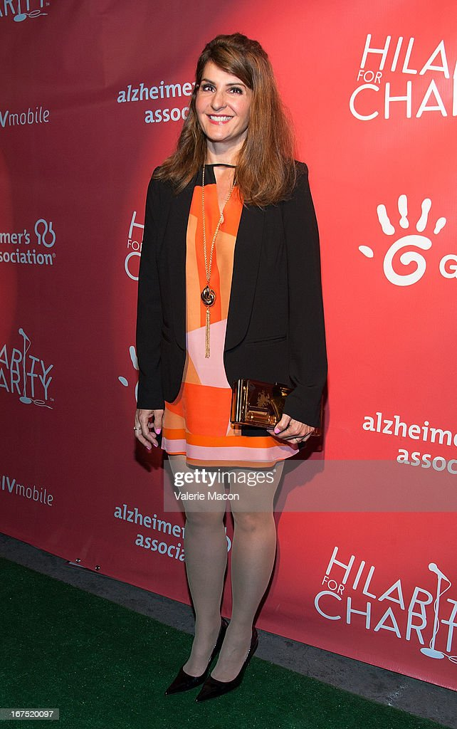 Nia Vardalos arrives at the 2nd Annual Hilarity for Charity Event at Avalon on April 25, 2013 in Hollywood, California.
