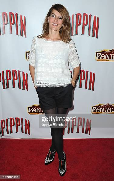Nia Vardalos arrives at the opening night of 'Pippin' at the Pantages Theatre on October 22 2014 in Hollywood California