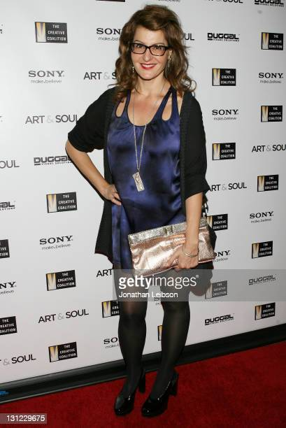 Nia Vardalos attends the 'Art Soul' Book Launch Party at Sony Store on November 2 2011 in Century City California