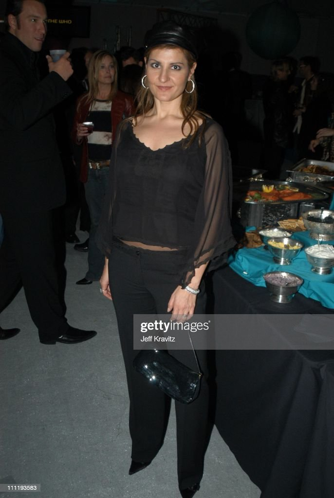 Nia Vardalos during VH1 Big in 2002 Awards - Backstage and Audience at Grand Olympic Auditorium in Los Angeles, CA, United States.