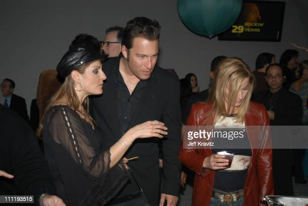 Nia Vardalos John Corbett and Bo Derek during VH1 Big in 2002 Awards Backstage and Audience at Grand Olympic Auditorium in Los Angeles CA United...