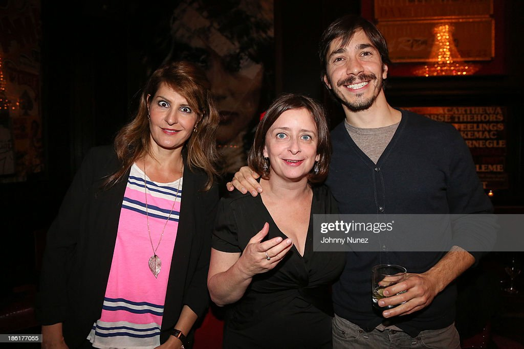 <a gi-track='captionPersonalityLinkClicked' href=/galleries/search?phrase=Nia+Vardalos&family=editorial&specificpeople=201549 ng-click='$event.stopPropagation()'>Nia Vardalos</a>, <a gi-track='captionPersonalityLinkClicked' href=/galleries/search?phrase=Rachel+Dratch&family=editorial&specificpeople=209387 ng-click='$event.stopPropagation()'>Rachel Dratch</a> and <a gi-track='captionPersonalityLinkClicked' href=/galleries/search?phrase=Justin+Long&family=editorial&specificpeople=240305 ng-click='$event.stopPropagation()'>Justin Long</a> attend the LAByrinth Theater Company Celebrity Charades 2013 benefit gala at Capitale on October 28, 2013 in New York City.
