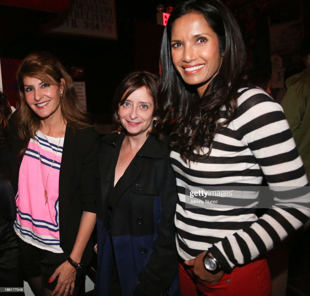 <a gi-track='captionPersonalityLinkClicked' href=/galleries/search?phrase=Nia+Vardalos&family=editorial&specificpeople=201549 ng-click='$event.stopPropagation()'>Nia Vardalos</a>, <a gi-track='captionPersonalityLinkClicked' href=/galleries/search?phrase=Rachel+Dratch&family=editorial&specificpeople=209387 ng-click='$event.stopPropagation()'>Rachel Dratch</a> and <a gi-track='captionPersonalityLinkClicked' href=/galleries/search?phrase=Padma+Lakshmi&family=editorial&specificpeople=201593 ng-click='$event.stopPropagation()'>Padma Lakshmi</a> attend the LAByrinth Theater Company Celebrity Charades 2013 benefit gala at Capitale on October 28, 2013 in New York City.