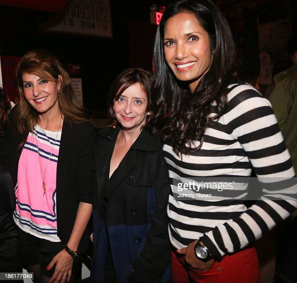 Nia Vardalos Rachel Dratch and Padma Lakshmi attend the LAByrinth Theater Company Celebrity Charades 2013 benefit gala at Capitale on October 28 2013...