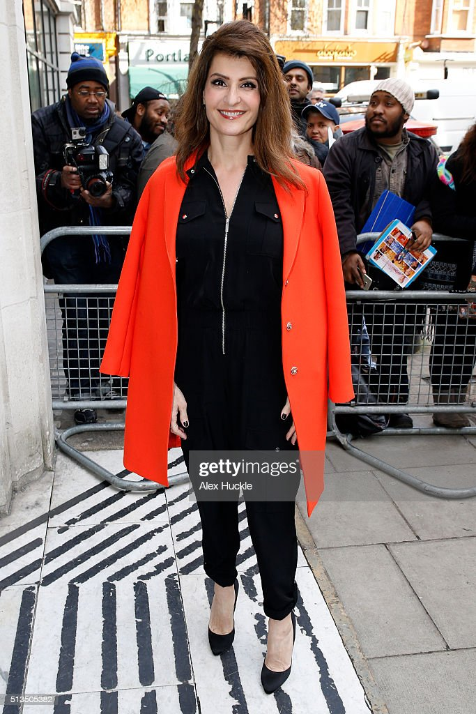 Nia Vardalos seen arriving at the BBC Radio 2 Studios on March 3 2016 in London England