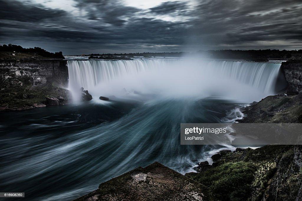 Niagara Falls at night - Canada - North America : Stock Photo