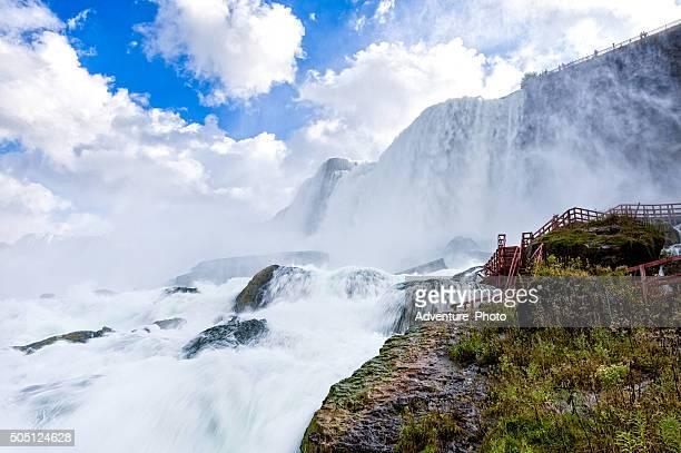 Niagara Falls from Below Up Close