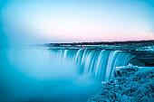 Long exposure of Niagara Falls.