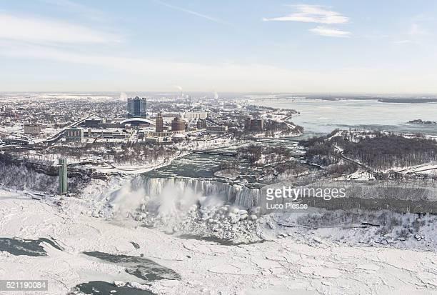 Niagara Falls with Niagara Falls (New York) in background