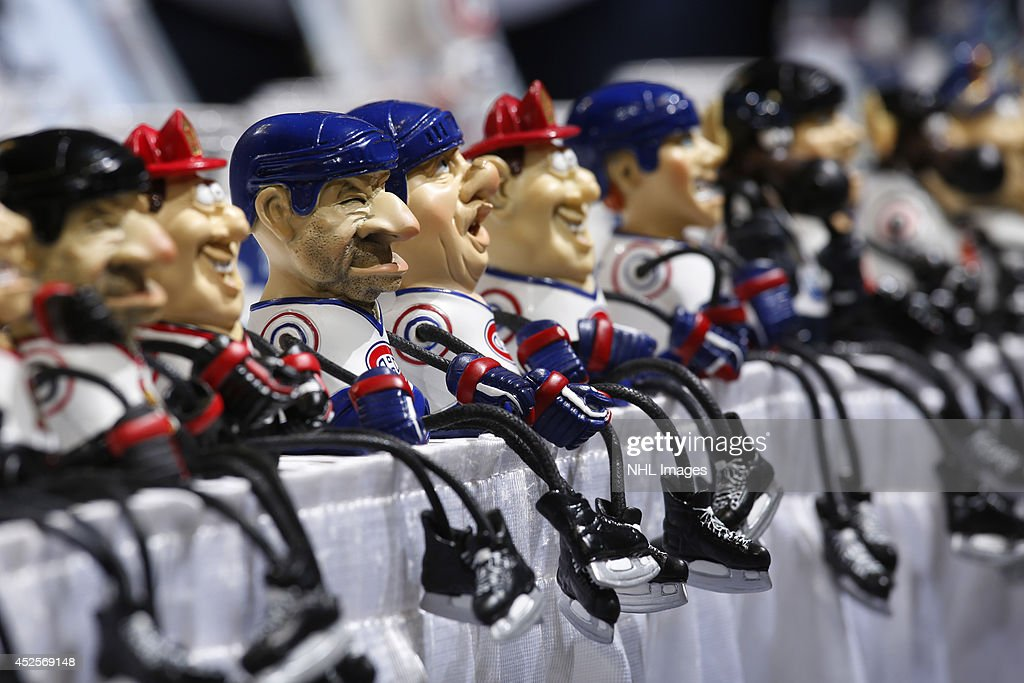 Niagara River Trading Company displays their figures at the 2014 NHL Exchange at Pepsi Center on July 23, 2014, in Denver, Colorado.