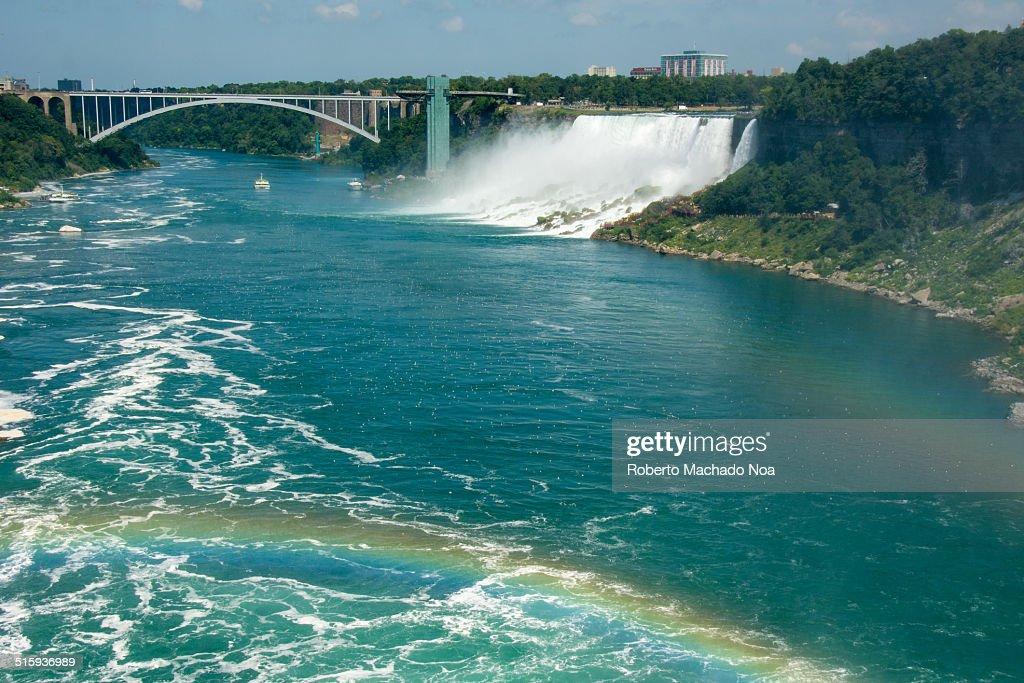 Niagara River with rainbows