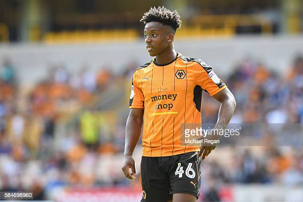 Niall Ennis of Wolves in action during the friendly match between Wolverhampton Wanderers and Swansea City at Molineux on July 30 2016 in...