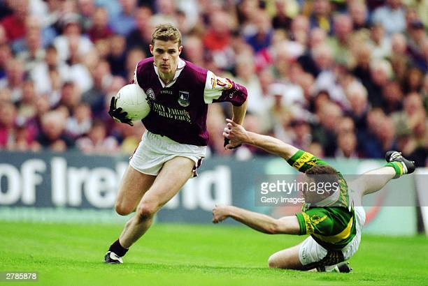 Niall Finnegan of Galway in action during the AllIreland GAA Final between Galway and Kerry held at Croke ParkDublin in the Republic of Ireland on...