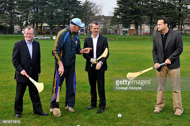 Niall Gibbons Tourism Ireland CEO Coach Mairtin Quilty Astronaut Chris Hadfield and Leo Varadkar Irish Minister for Transport Tourism and Sport learn...