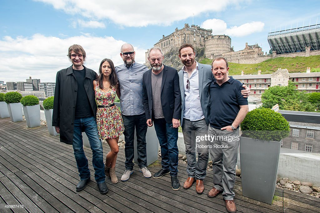 Niall Greig Fulton, Hanna Standbridge, Brian O'Malley, <a gi-track='captionPersonalityLinkClicked' href=/galleries/search?phrase=Liam+Cunningham&family=editorial&specificpeople=549747 ng-click='$event.stopPropagation()'>Liam Cunningham</a>, Bryan Larkin and Jonathan Watson attend for 'Let us Prey' photocall at Apex International Hotel during the Edinburgh International Film Festival on June 20, 2014 in Edinburgh, Scotland.
