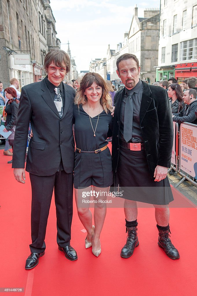 Niall Greig Fulton, Jo Hartley and Bryan Larkin attend the Closing Night Gala and International Premiere of 'We'll Never Have Paris' at Festival Theatre during the Edinburgh International Film Festival on June 29, 2014 in Edinburgh, Scotland.