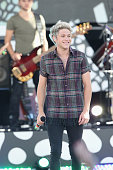 Niall Horan and One Direction perform on ABC's 'Good Morning America' at Rumsey Playfield Central Park on August 4 2015 in New York City