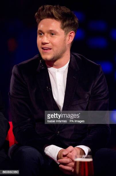 Niall Horan during filming of the Graham Norton Show at the London Studios to be aired on BBC One on Friday evening