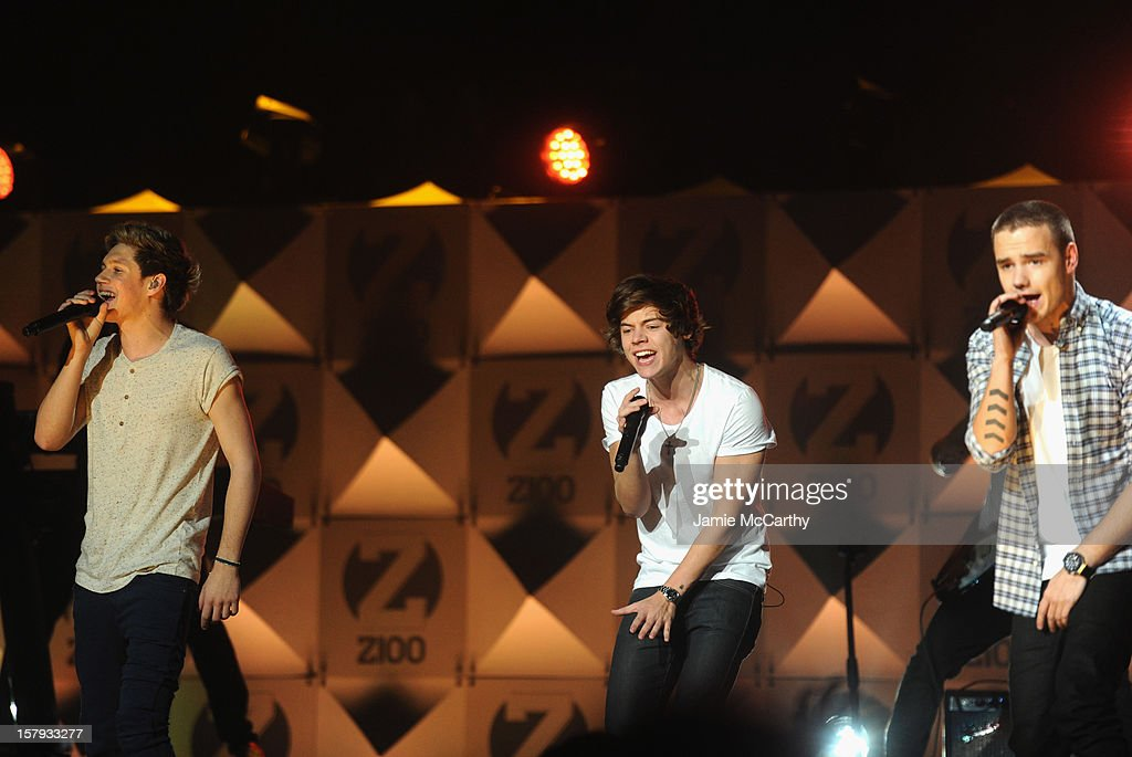 Niall Horan, Harry Styles and Liam Payne of One Direction perform onstage during Z100's Jingle Ball 2012, presented by Aeropostale, at Madison Square Garden on December 7, 2012 in New York City.