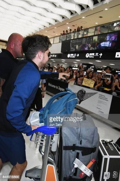 Niall Horan is seen upon arrival at Narita International Airport on September 12 2017 in Narita Japan