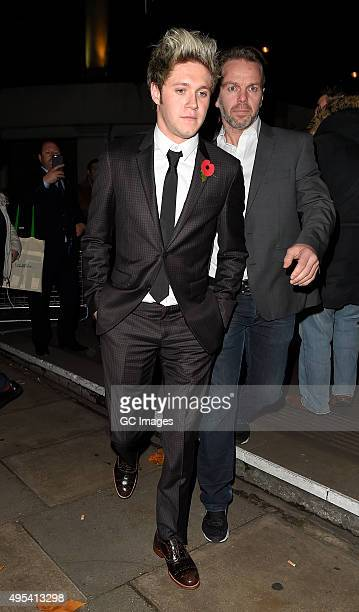 Niall Horan leaves Grosvenor Hotel after the Music Industry Trusts Awards on November 2 2015 in London England