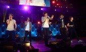 Niall Horan Liam Payne Harry Styles Zayn Malik and Louis Tomlinson perform onstage during Z100's Jingle Ball 2012 presented by Aeropostale at Madison...