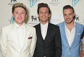 Niall Horan Louis Tomlinson and Liam Payne attend The Great Gatsby Ball in support of Trekstock at Bloomsbury Ballroom on April 16 2015 in London...