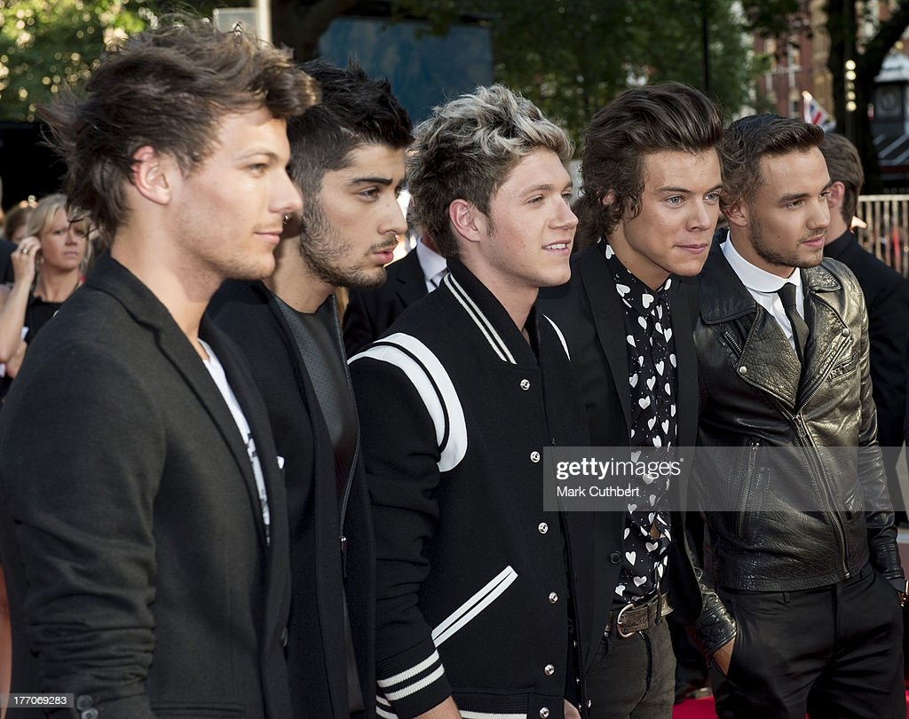 <a gi-track='captionPersonalityLinkClicked' href=/galleries/search?phrase=Niall+Horan&family=editorial&specificpeople=7229827 ng-click='$event.stopPropagation()'>Niall Horan</a>, <a gi-track='captionPersonalityLinkClicked' href=/galleries/search?phrase=Louis+Tomlinson&family=editorial&specificpeople=7235196 ng-click='$event.stopPropagation()'>Louis Tomlinson</a>, <a gi-track='captionPersonalityLinkClicked' href=/galleries/search?phrase=Zayn+Malik&family=editorial&specificpeople=7298822 ng-click='$event.stopPropagation()'>Zayn Malik</a>, <a gi-track='captionPersonalityLinkClicked' href=/galleries/search?phrase=Liam+Payne&family=editorial&specificpeople=7235152 ng-click='$event.stopPropagation()'>Liam Payne</a> and <a gi-track='captionPersonalityLinkClicked' href=/galleries/search?phrase=Harry+Styles&family=editorial&specificpeople=7229830 ng-click='$event.stopPropagation()'>Harry Styles</a> attend the World Premiere of 'One Direction: This Is Us' at Empire Leicester Square on August 20, 2013 in London, England.