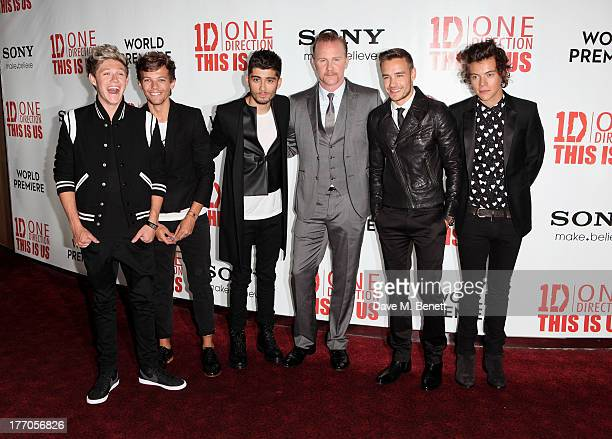 Niall Horan Louis Tomlinson Zayn Malik Morgan Spurlock Liam Payne and Harry Styles attend the World Premiere of 'One Direction This Is Us 3D' at...