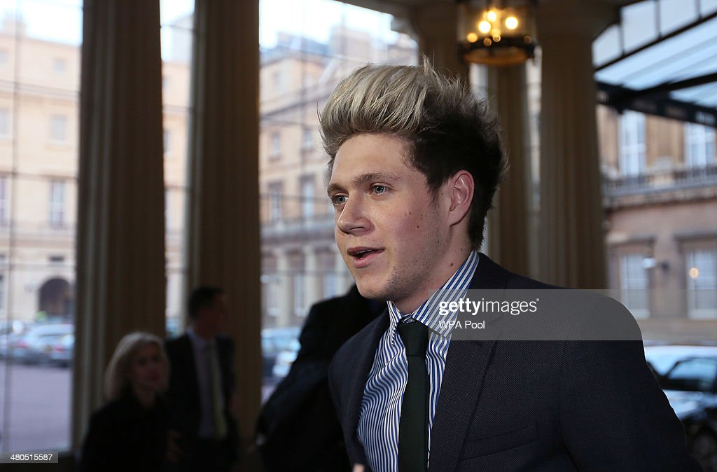 <a gi-track='captionPersonalityLinkClicked' href=/galleries/search?phrase=Niall+Horan&family=editorial&specificpeople=7229827 ng-click='$event.stopPropagation()'>Niall Horan</a> of One Direction arrives for an Irish Community Reception at Buckingham Palace on March, 25, 2014. The reception is in a advance of Ireland's President Michael D Higgins who will be the first Irish President to pay a state visit to Britain in April.