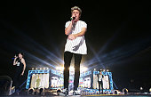 Niall Horan of One Direction performs during the 'On the Road Again' World Tour at Allianz Stadium on February 7 2015 in Sydney Australia