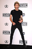 Niall Horan of One Direction poses in the press room at the 2014 American Music Awards at Nokia Theatre LA Live on November 23 2014 in Los Angeles...