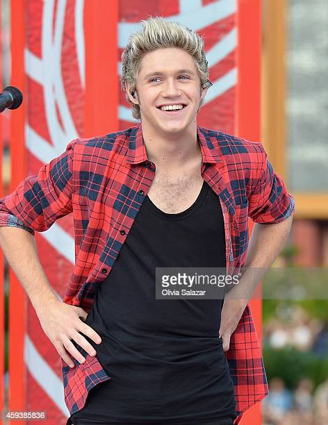 Niall Horan of the band One Direction appear on NBC's Today Show to release their new album 'Four' at Universal City Walk At Universal Orlando on...
